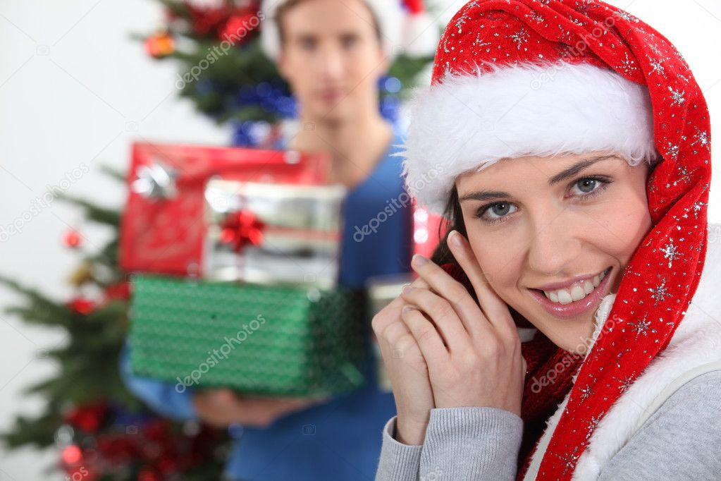 Merry Christmas honey. — Foto Stock #10841506