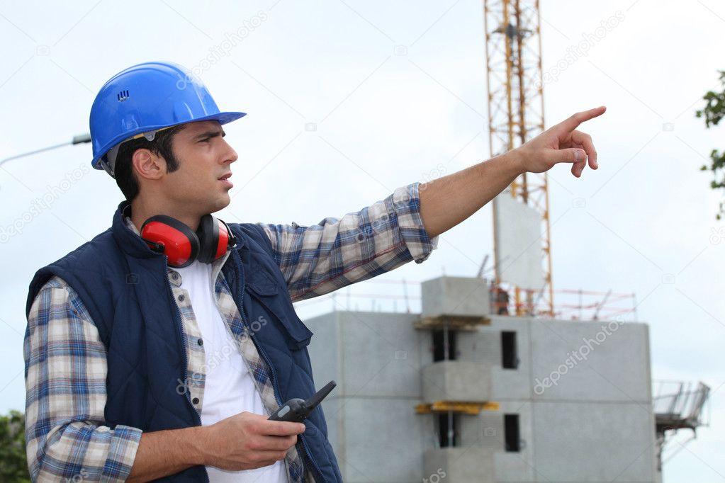 Foreman in charge of large building site — Stock Photo #10843600