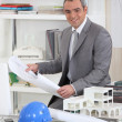 Architect in his office — Stockfoto
