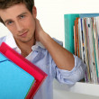 Stock Photo: Lot of studying