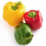 pimiento rojo, verde y amarillo — Foto de Stock