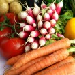 Radishes and other vegetables — Stock Photo #10852364