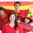 Young supporting Spain — Stock Photo