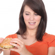 Hate a burger — Stock Photo