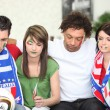 Stock Photo: Sad Italian football fans