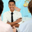 Students in geography class — Stock Photo #10853717