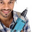 Stock Photo: DIY fstood with drill