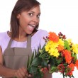 Stock Photo: Florist excited