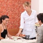 Couple in restaurant — Stock Photo #10858672