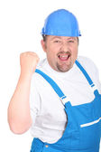 A happy workman — Stock Photo