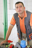 An experienced tradesman — Stock Photo