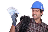 Tradesman earning a living — Stock Photo