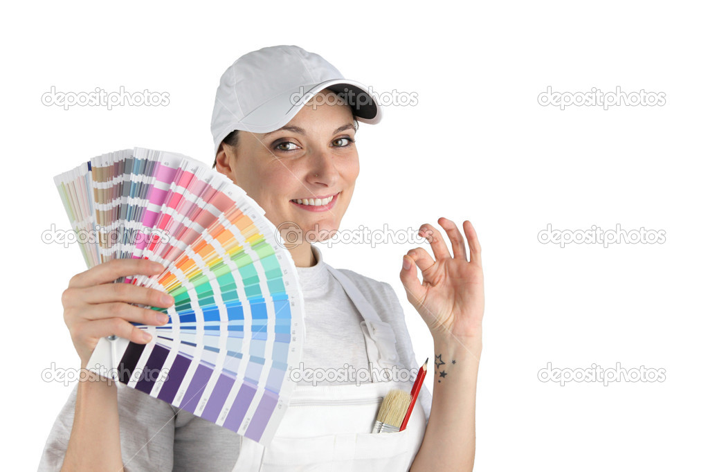 Painter has finally chosen a color — Stock Photo #10854590