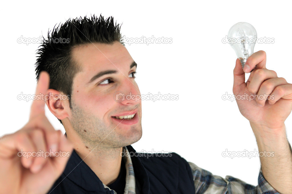Man with an idea — Stock Photo #10854912