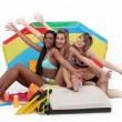 Stock Photo: Girls enjoying day at beach together