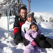 Family on a skiing holiday — Stock Photo #10861805