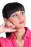 Woman glancing — Stock Photo