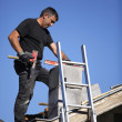 Man building chimney — Stock Photo