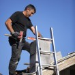 Man building chimney — Stock Photo #10881540