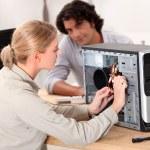 Computer repair service — Stock Photo
