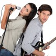 Rock band — Stock Photo