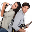 Royalty-Free Stock Photo: Rock band