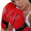 Female boxer - Stock Photo