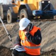 Surveyor working on-site — Stock Photo