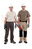 Craftsmen posing together — Stock Photo