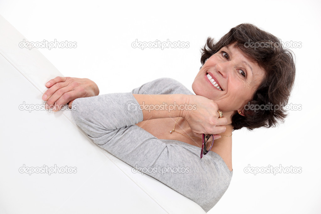Middle aged woman posing. — Stock Photo #10884956