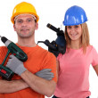 Stock Photo: A team of tradespeople