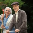 Senior couple in the garden — Stock Photo #10897324