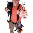 Electrician with specialist wire strippers — Stock Photo #10897722