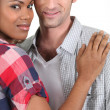 Stock Photo: Mixed race couple