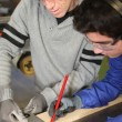 Apprentice joiner - Stockfoto