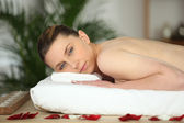 Woman in massage parlor — Stock Photo