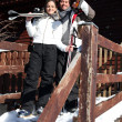 Couple on a skiing holiday together — Stock Photo #10900673