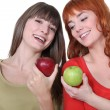Women with apples in hand — Stock Photo #10904841