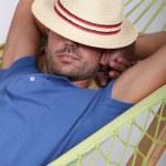 Portrait of a man in a hammock — Stock Photo #10905406