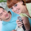 Couple of musicians — Stock Photo #10906662