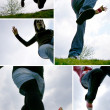 Stock Photo: Various jumping