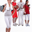 A group of young athletes — Stock Photo