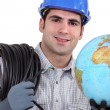 Stock Photo: Electriciwiring world