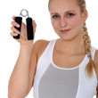 Sporty young woman with pliers - Stock fotografie