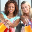 Girlfriends shopping — Stock Photo #10908655