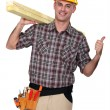 Stock Photo: A worker man