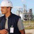 Employee on a building site — Stock Photo #10909300