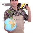 Stock Photo: Tradesmdedicated to developing world