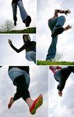 Různé skoky — Stock fotografie