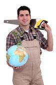 Comerciante dedicado al desarrollo del mundo — Foto de Stock